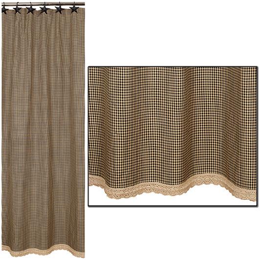 Burlap Shower Curtain 5500 Quick View