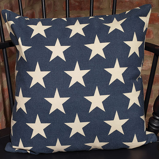 The Country House Online Store Custom Burlap Star Decorative Pillow