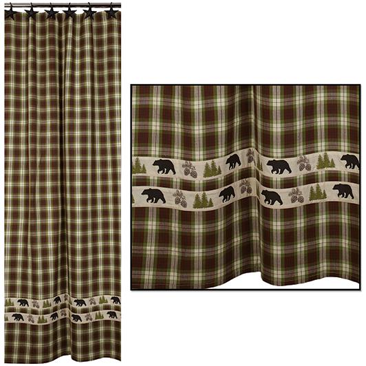 Woodland Plaid Shower Curtain Item Number 98670